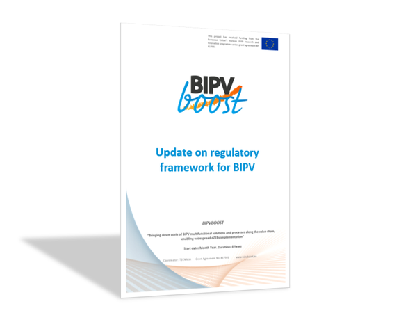 Update on regulatory framework for BIPV