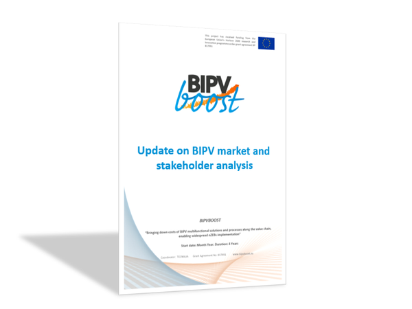 Update on BIPV market and stakeholder analysis
