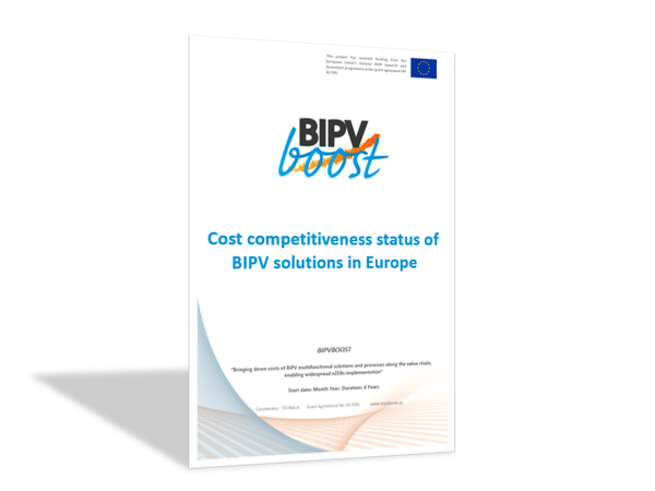 Competitiveness status of BIPV solutions in Europe
