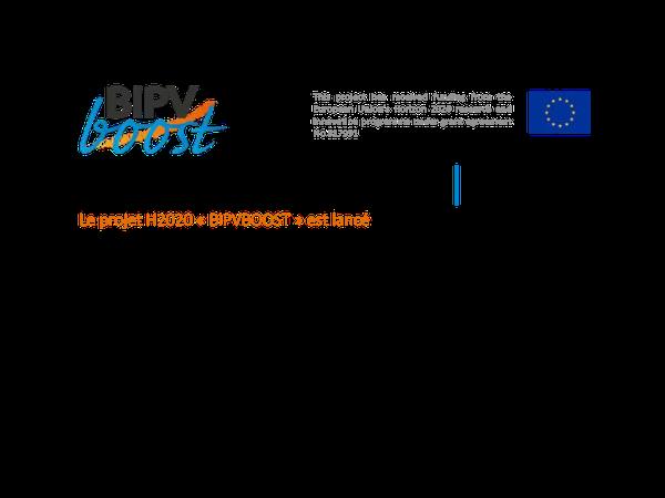 Communiqué de presse: BIPVBOOST est lancé