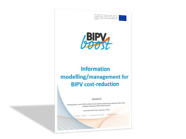 Information modelling/management for BIPV cost-reduction