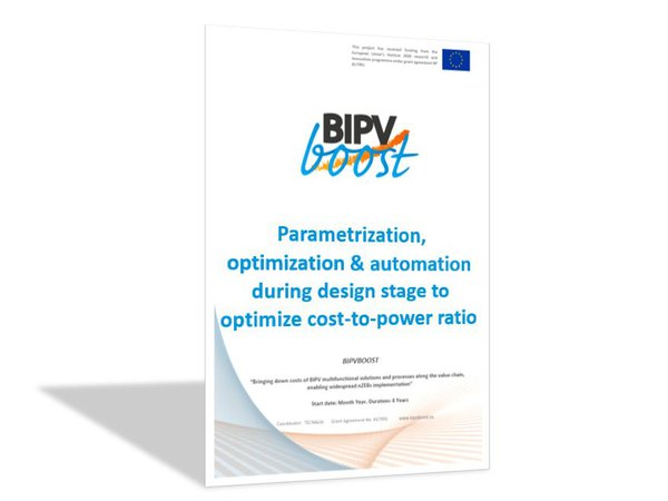 Parametrization, optimization and automation during design stage for optimizing cost-to-power ratio
